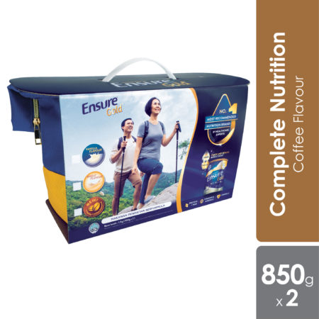 Abbott Ensure Gold Coffee Twin Pack 850g Free Fashion Backpack