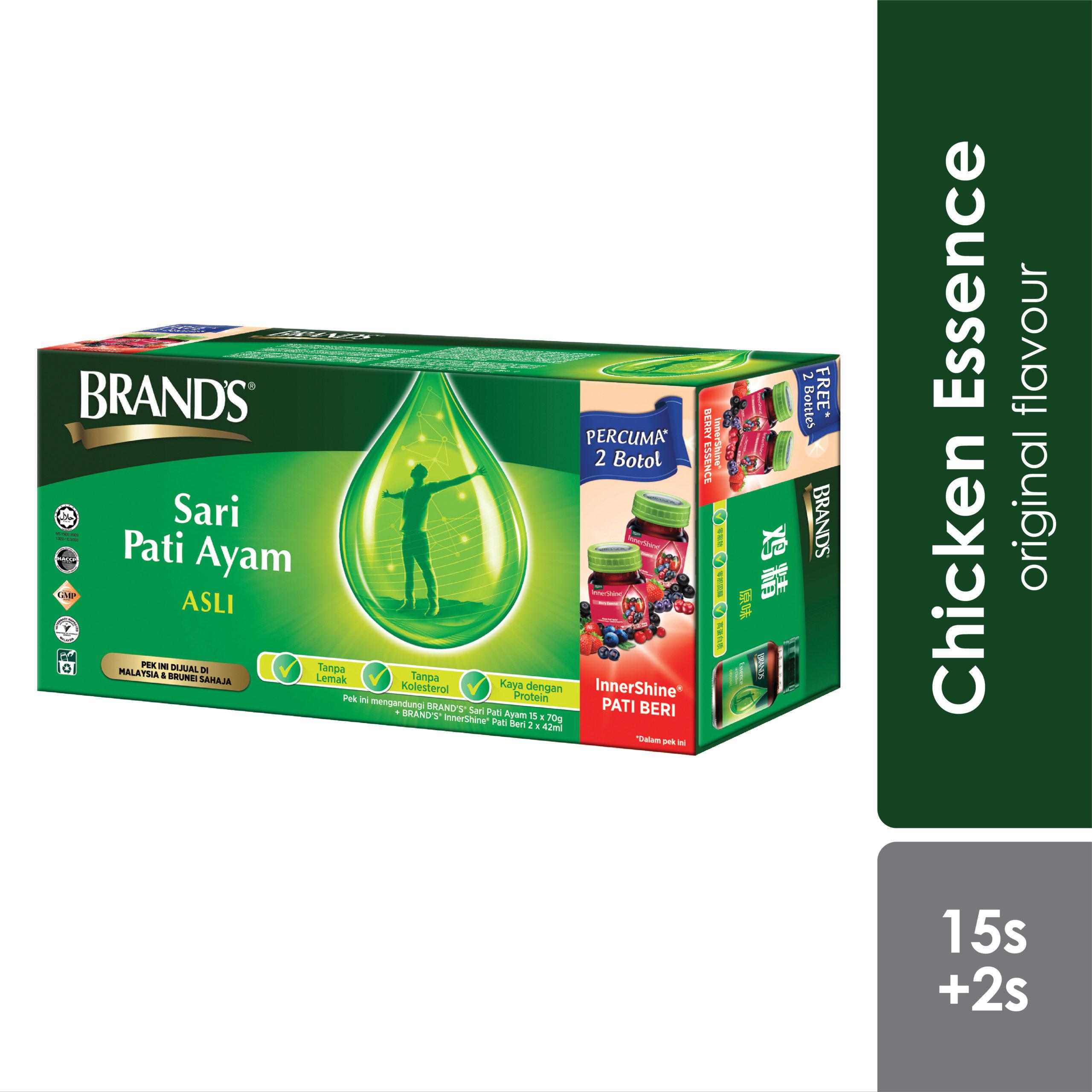 Brand's Chicken Essence 15x70g Free Innershine Berry 2x42g