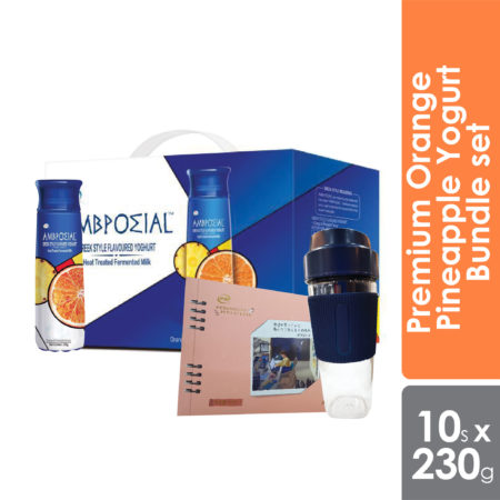 Anmuxi Premium Orange Pineapple Yogurt Bundle set 230g x 10s