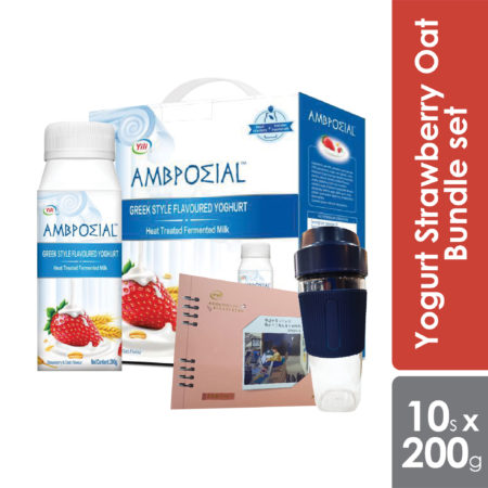 Anmuxi Yogurt Strawberry Oat 200g Bundle Set [expiry Date 2 Mar 2021]