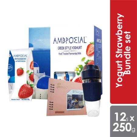 Anmuxi Yogurt Strawberry Bundle set 205g x 12s