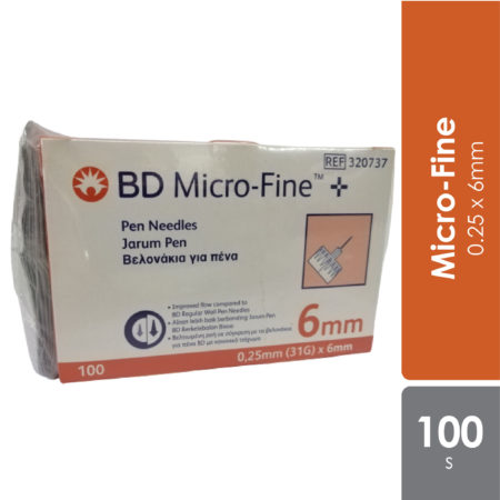 Bd Micro-fine Pen Needles 31g 0.25x6mm100s With Alcohol Swab 20s