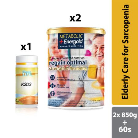 Elderly Care for Sarcopenia | Metabolic + Energold 850gx2 & Powerlife K2D3 60s