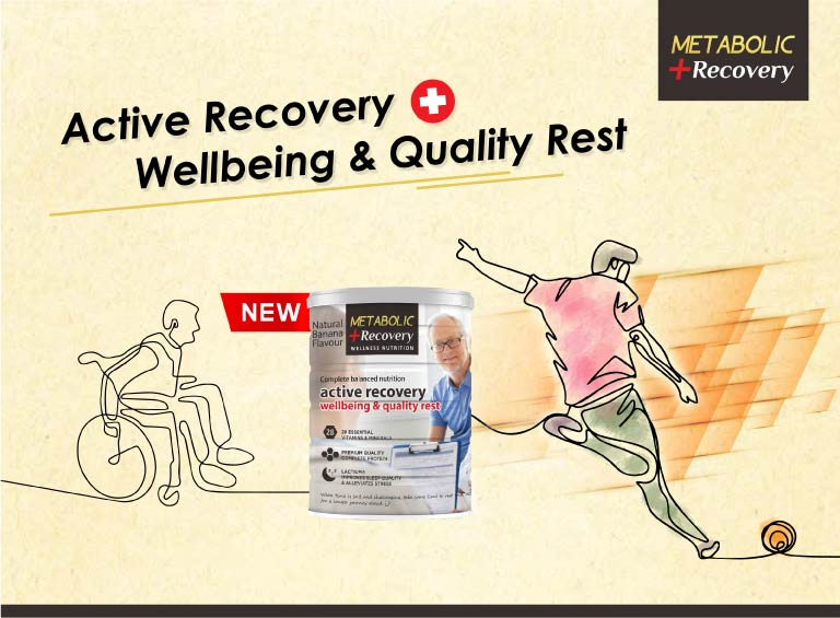 Metabolic + Recovery is specially designed for active recovery, improve sleep quality and reduce stress for wellbeing.