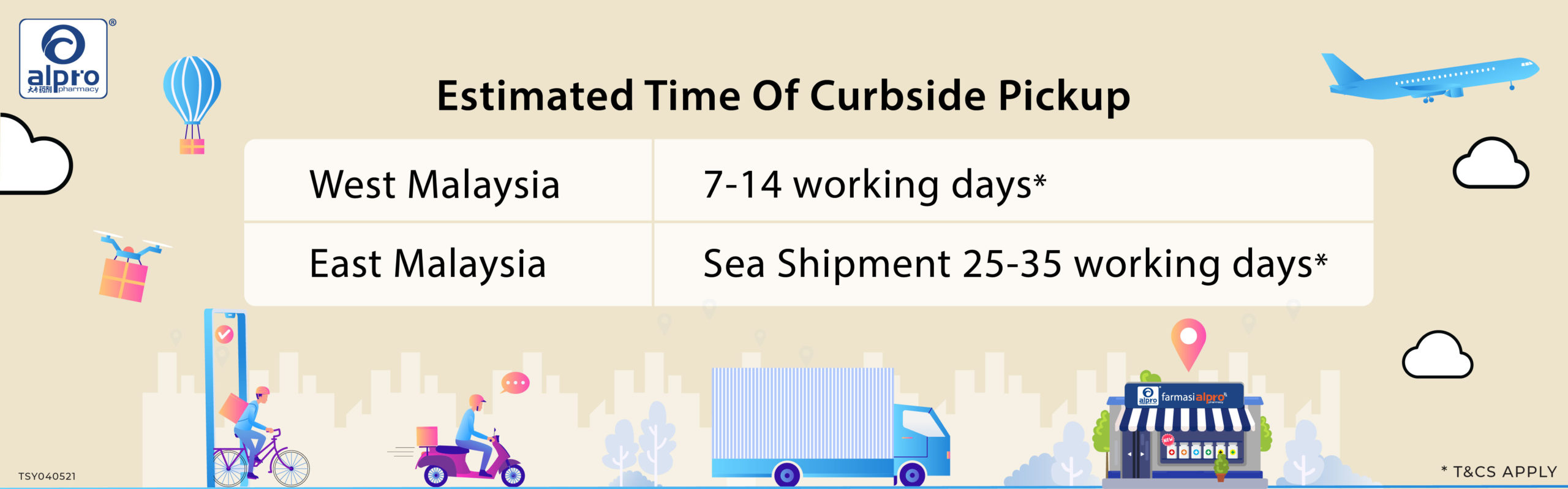 free delivery_2_Estimated Time Of Curbside Pickup
