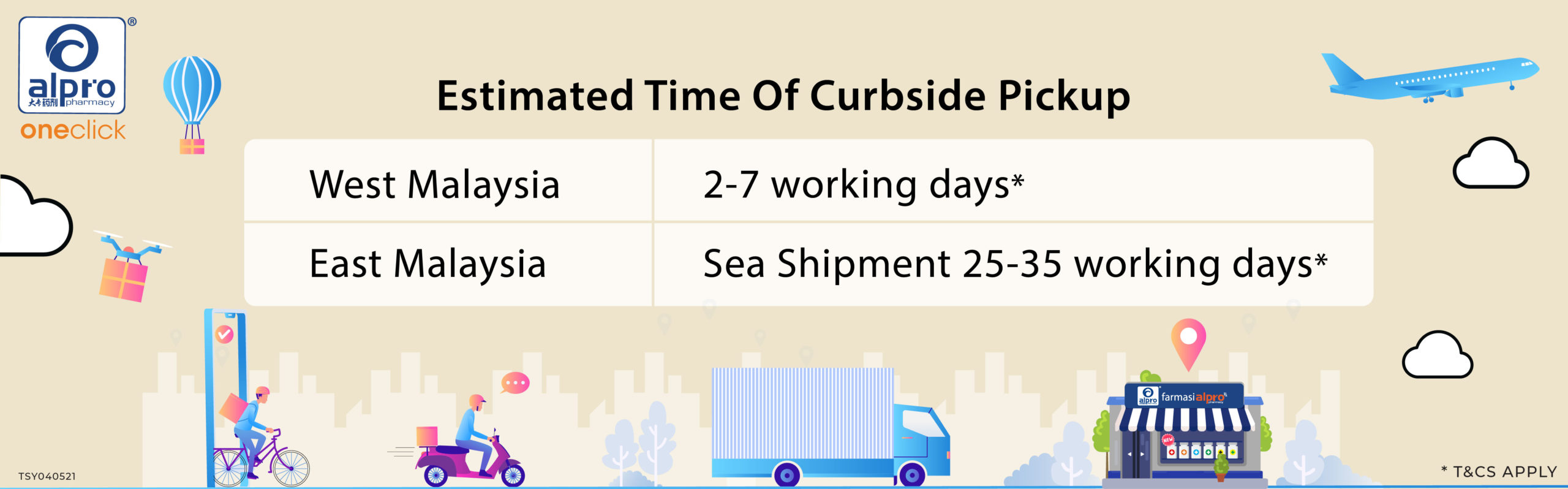 free delivery_duration_Estimated Time Of Curbside Pickup